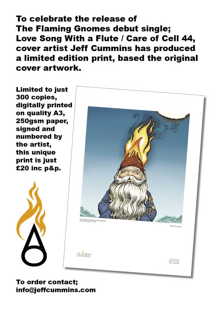Jeff's Limited Edition Flaming Gnomes Print