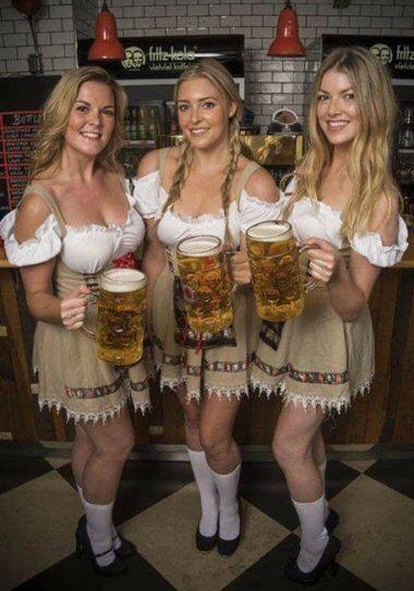 three steins
